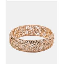 Golden 18-K Gold Plated 18-K Gold Plated Bangle 51164