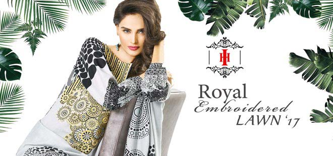 House Of Ittehad Royal Embroidered Lawn