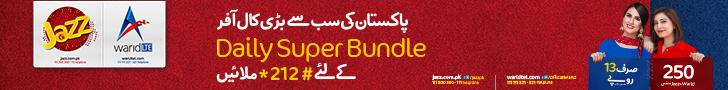 Jazz and Warid Daily Super Bundle