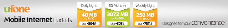 Ufone Mobile Internet Buckets