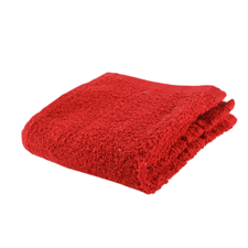 BATH AND HOME Pack of 3 Egyptian Wash Clothes Red
