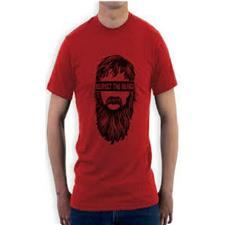Red Cotton Printed T-Shirt For Men