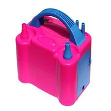 Dual Nozzle Electric Balloon Inflator Pump - Pink & Blue