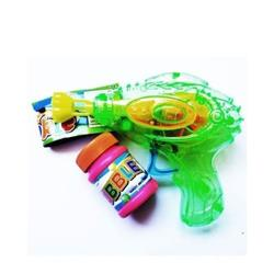 LED Bubble Gun With Bubble Soap - Green