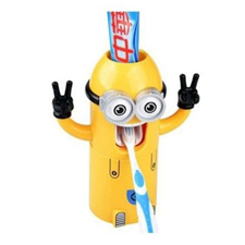 Minions Toothpaste Dispenser & Brush Holder for kids