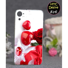 HTC Desire 826 Love Style 3 Mobile Cover Red